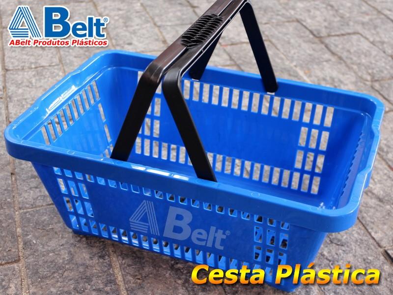 cesta plastica azul