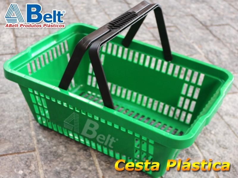 Cesta Plástica Verde
