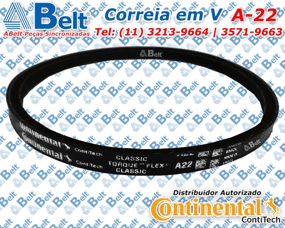 Correia V perfil A-22 Continental Contitech