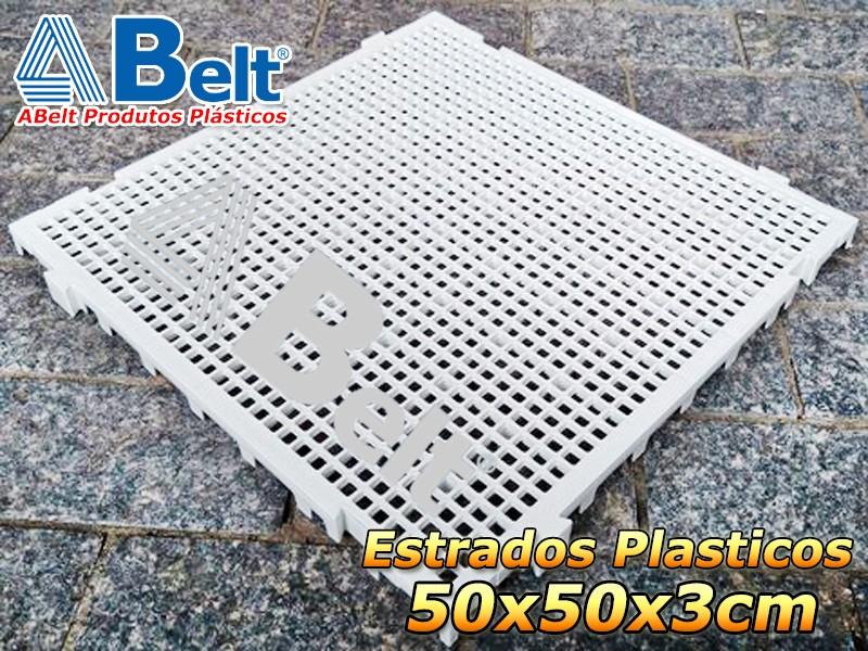Estrado Plástico 50 x 50 x 3 cm na cor branca
