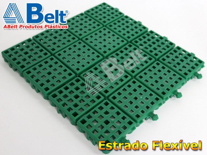 Estrado Flexível 24x24cm na cor verde