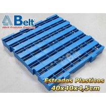 Estrado Plástico 40x40x4,5cm na cor azul