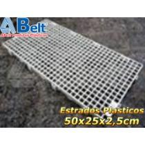 Estrado Plástico 50 x 25 x 2,5 cm na cor cinza