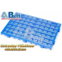 Estrado Plástico 60 x 40 x 3 cm na cor azul