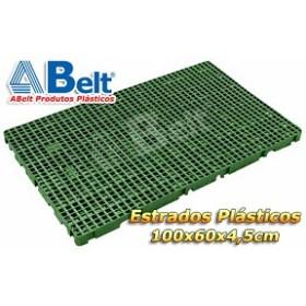 Estrado Plástico 60 x 100 x 4,5 cm na cor verde