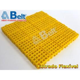 Estrado Flexivel Modular 24x24cm na cor amarela