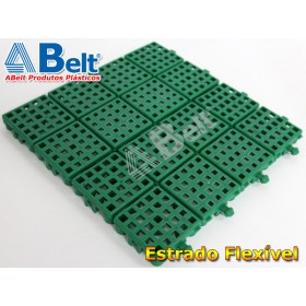 Estrado Flexivel Modular 24x24cm na cor verde