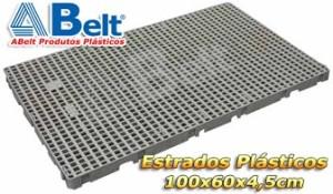 Estrado Plástico 60x100x4,5cm na cor cinza