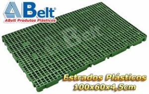 Estrado Plástico 60x100x4,5cm na cor verde