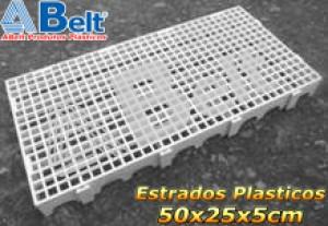 Estrado Plástico 50 x 25 x 5 cm na cor branca