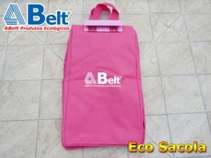 Sacola ecológica rosa