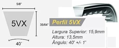 Correia em V dentada Perfil 5VX