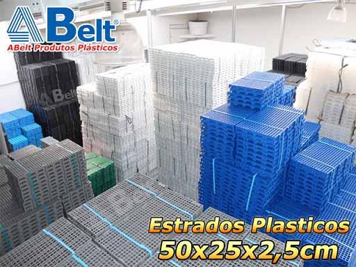 Estrado Plástico 50x25x2,5cm