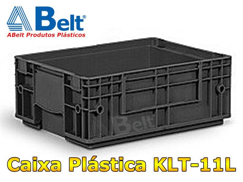 Caixa Plástica KLT 11 na cor preta