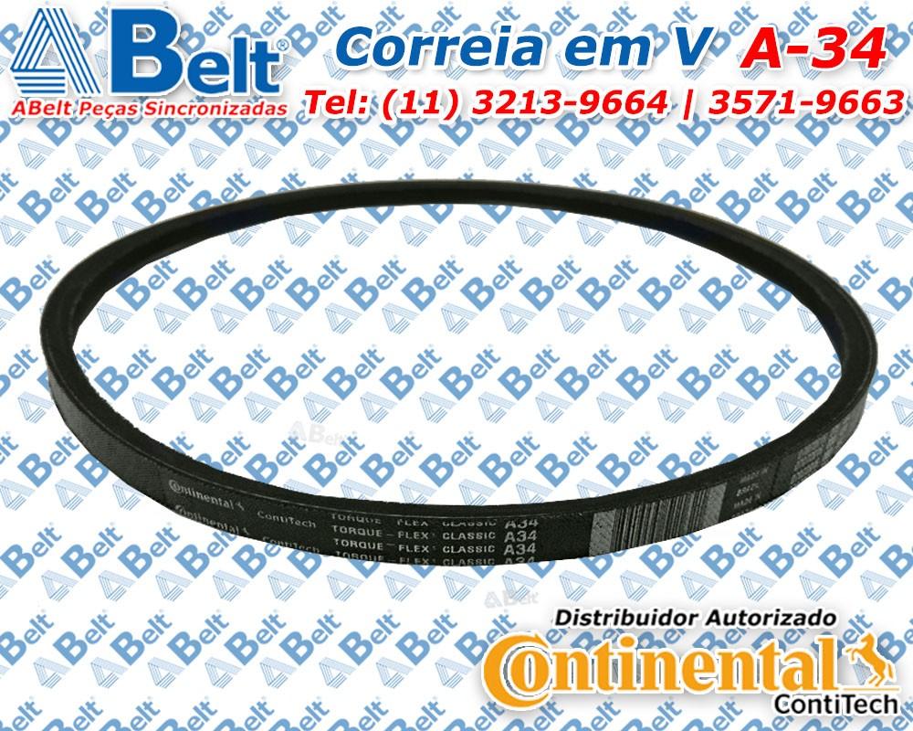Correia em V perfil A-34 Continental Contitech