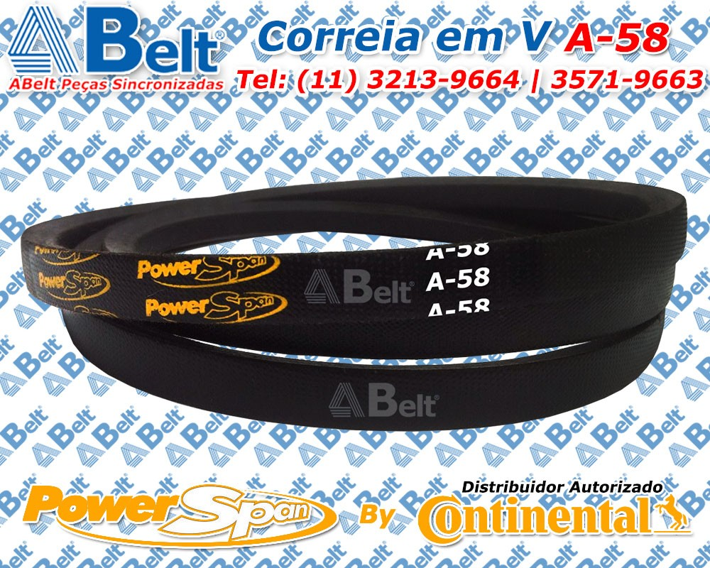 Correia em V Perfil A-58 Power Span Continental Contitech