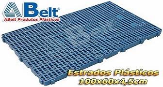 Estrado Plástico 60x100x4,5cm na cor azul