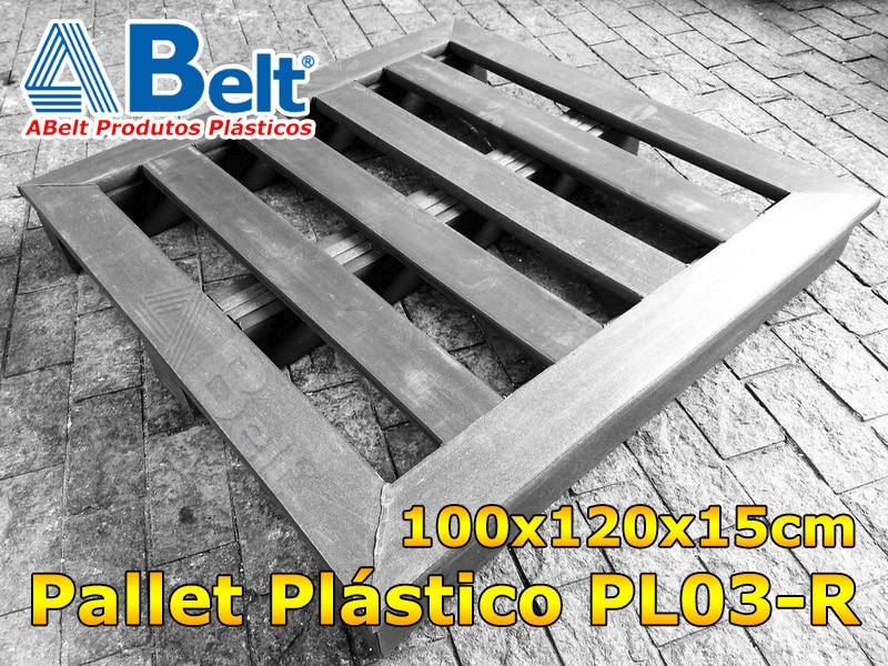 Pallet Plástico PL03-R Reforçado preto