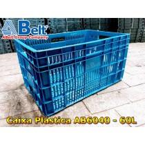 Caixa plástica vazada AB-60L na cor azul