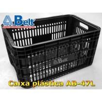 Caixa Plástica Agrícola Vazada AB-47L cor preta