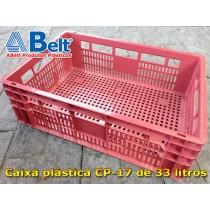 caixa-plastica-cp-17-vermelha-de-33-litros