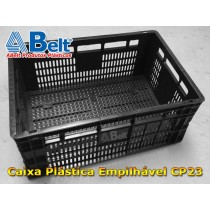 Caixa plástica vazada CP23 (1 unidade preta)