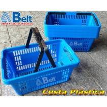Cesta Plástica CP16 na cor azul (10 unidades)