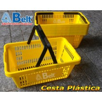 Cesta Plástica CP16 na cor amarela (20 unidades)