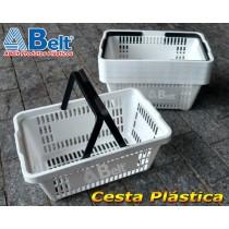 Cesta Plástica CP16 na cor branca (10 unidades)
