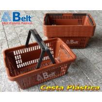 Cesta Plástica CP16 na cor marrom (10 unidades)