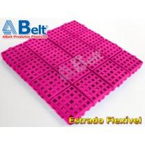 Estrado Flexível 24x24cm na cor rosa