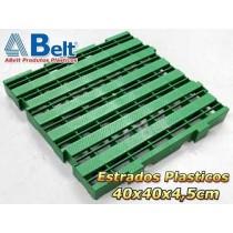 Estrado Plástico 40x40x4,5cm na cor verde