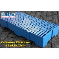 Estrado Plástico 41x82x13cm na cor azul