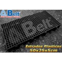 Estrado Plástico 50 x 25 x 5 cm na cor preta