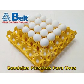 Bandeja de plástico para ovos (1 unidade amarela)