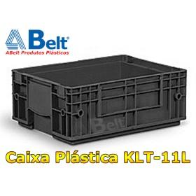 Caixa Plástica Industrial KLT 11 na cor preta