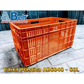 Caixa plástica vazada AB-60L na cor laranja