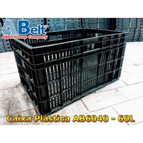 Caixa plástica vazada AB-60L na cor preta