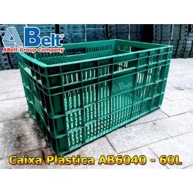 Caixa plástica vazada AB-60L na cor verde