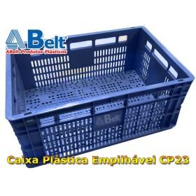 Caixa plástica vazada CP23 (1 unidade azul)
