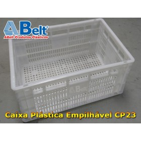 Caixa plástica vazada CP23 (1 unidade branca)
