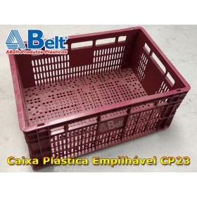 Caixa plástica vazada CP23 (1 unidade vermelha)