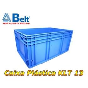 Caixa plástica KLT 13 na cor azul