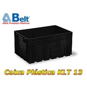 Caixa plástica KLT 13 na cor preta