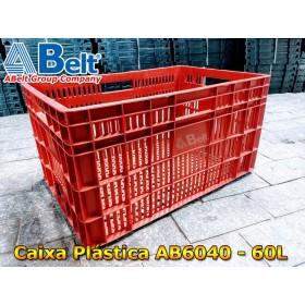 Caixa plástica vazada AB-60L na cor vermelha