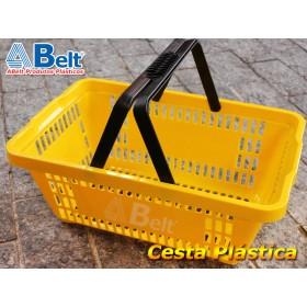 Cesta Plástica CP16 na cor amarela (1 unidade)