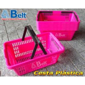 Cesta Plástica CP16 na cor rosa (20 unidades)
