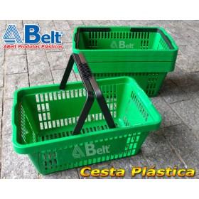 Cesta Plástica CP16 na cor verde (10 unidades)