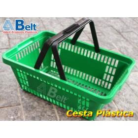 Cesta Plástica CP16 na cor verde (1 unidade)