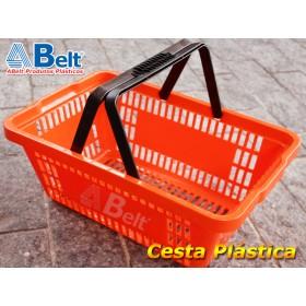 Cesta Plástica CP16 na cor laranja (1 unidade)